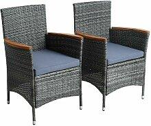 Chaise de jardin Chaise de jardin en polyrattan