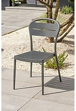 Chaise de jardin empilable anthracite - Madelia