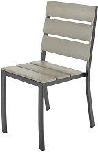 Chaise de jardin en aluminium et composite