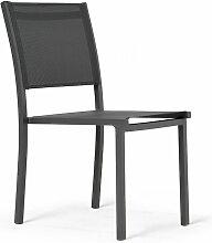 Chaise de jardin en aluminium et textilène Nice -