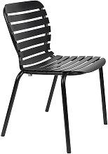 Chaise de jardin en aluminium noir