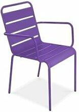 Chaise de jardin en métal, palavas