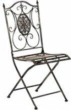 Chaise de jardin en métal sibell , bronze