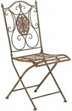 Chaise de jardin en métal sibell , marron antique