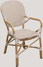 Chaise de jardin en osier synthétique Alisa
