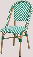 Chaise de jardin en osier synthétique Kalian