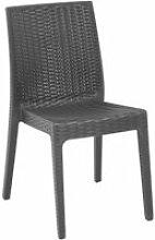 Chaise de jardin en polypropylène imitation