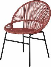 Chaise de jardin en résine terracotta et métal