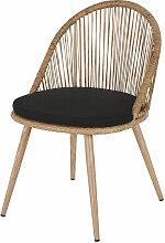 Chaise de jardin en résine tressée coloris