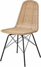 Chaise de jardin en résine tressée imitation