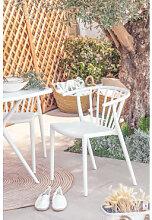 Chaise de jardin Ivor Blanc Sklum