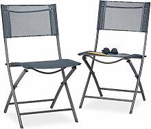 Chaise de jardin lot de 2 pliable plastique et