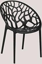 Chaise de jardin Ores Polypropylène - Noir - Sklum