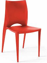 Chaise de jardin plastique London - Rouge - Rouge