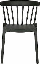 Chaise de jardin plastique moderne empilable noir