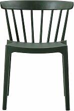 Chaise de jardin plastique moderne empilable vert