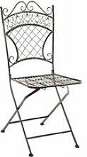 Chaise de jardin pliable en fer forgé bronze