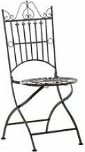 Chaise de jardin pliable en métal bronze mdj10221