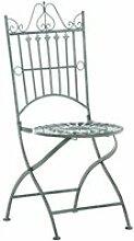 Chaise de jardin pliable en métal vert vieilli