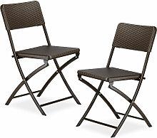 Chaise de jardin pliable pliante Lot de 2 Chaise