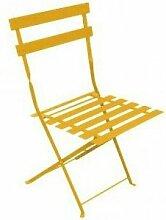 Chaise de jardin pliante BISTROT - Jaune - Lot de 2