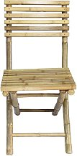 Chaise de jardin pliante  bois clair