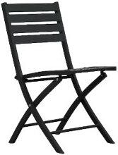 Chaise de jardin pliante en aluminium couleur