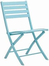 Chaise de jardin pliante en aluminium de couleur