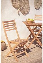 Chaise de jardin pliante en bois de teck Nicola