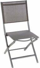 Chaise de jardin pliante essentia  - aluminium et