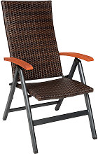 Chaise de Jardin Pliante Réglable en Aluminium et