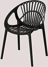 Chaise de jardin Tammi Polypropylène - Noir -
