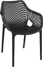 Chaise de jardin / terrasse 'SISTER' noire