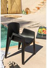 Chaise de jardin Tina Noir Sklum