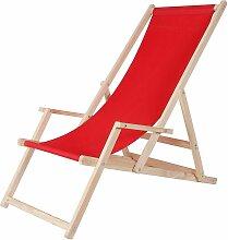 Chaise de plage avec accoudoir chaise pliante