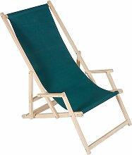 Chaise de plage avec accoudoir, transat, chaise de