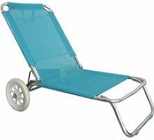 Chaise de plage avec roulettes - o'beach -