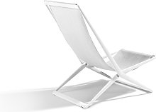Chaise de plage BRANCH de Tribù, Blanc