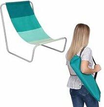 chaise de plage pliante, camping, jardin - vert
