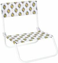 Chaise de plage pliante zeste - jaune