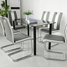 Chaise de salle à manger de style moderne, avec