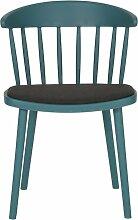 Chaise de salle à manger néo rétro bleu