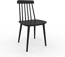 Chaise de salle à manger noir de 43 x 82 x 44 cm