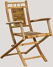 Chaise de salle à manger pliante en bambou de