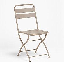 Chaise de salle à manger pliante Janti Acier -