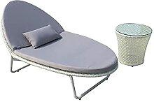 Chaise de salon d'extérieur en rotin avec