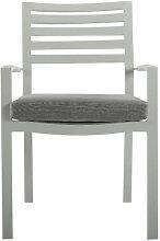 Chaise de salon de jardin en aluminium de couleur