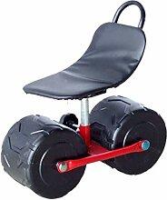 Chaise de travail en mouvement avec roues,