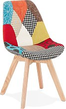 Chaise design 'PATCHY' en tissu style