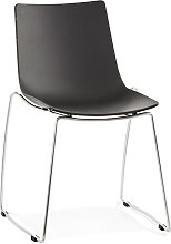 Chaise design 'TRENO' noire en matière
